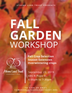 Fall Garden Workshop @ Athens Land Trust