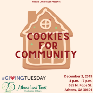 Cookies for Community @ Athens Land Trust