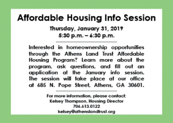 Affordable Housing Info Session Flyer